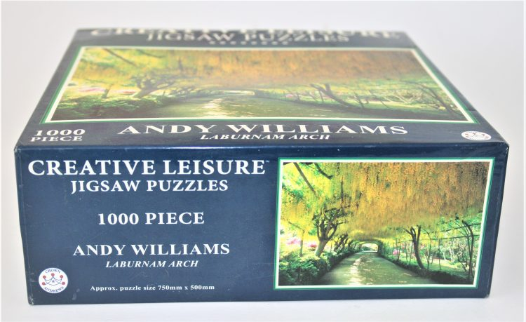 Image of the puzzle 1000, Crown & Andrews, Laburnum Arch, by Andy Williams, Factory Sealed, Picture of the size