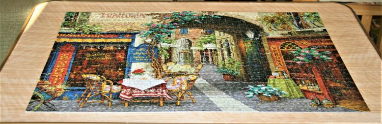Image of the puzzle 1000 Educa, Trattoria, Viktor Shvaiko, Complete, Picture of the puzzle assembled