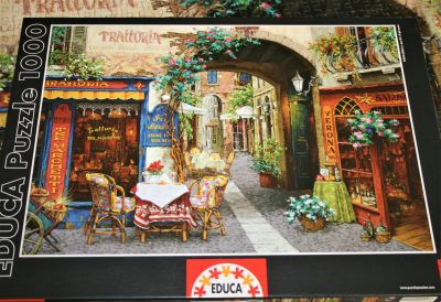 Image of the puzzle 1000 Educa, Trattoria, Viktor Shvaiko, Complete, Picture of the box