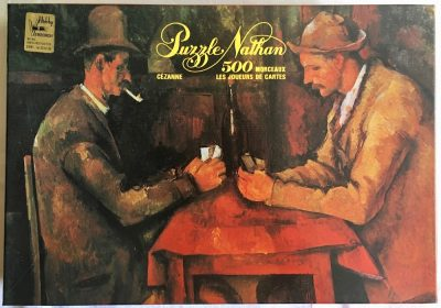 Image of the puzzle 500, Nathan, The Card Players, Paul Cézanne, Sealed Bag, Picture of the box