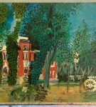 Image of the puzzle 1500, Dujardin, The Paddock at Deauville, by Raoul Dufy,
