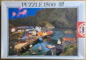 Image of the puzzle 1500, Educa, Norwegian Fjord, Edmund Nägele, Factory Sealed