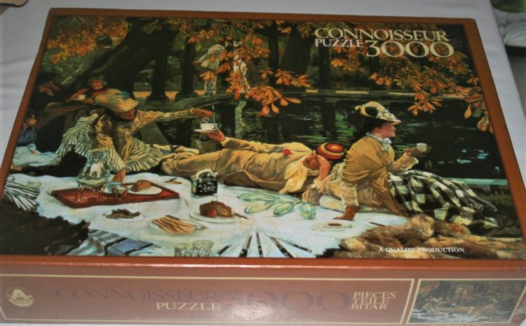 Image of the puzzle 3000, Arrow, The Picnic, by James Tissot, Factory Sealed,
