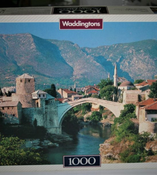 Image of the puzzle 1000, Waddingtons, Mostar, Yugoslavia, Complete, Picture of the box