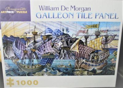 Image of the puzzle 1000, Pomegranate, Galleon Tile Panel, William De Morgan, Factory Sealed, Factory Sealed