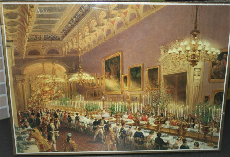 Image of the puzzle 1000, Royal Collection, Banquet in the Picture Gallery, by Louis Haghe, Factory Sealed, Picture of the box