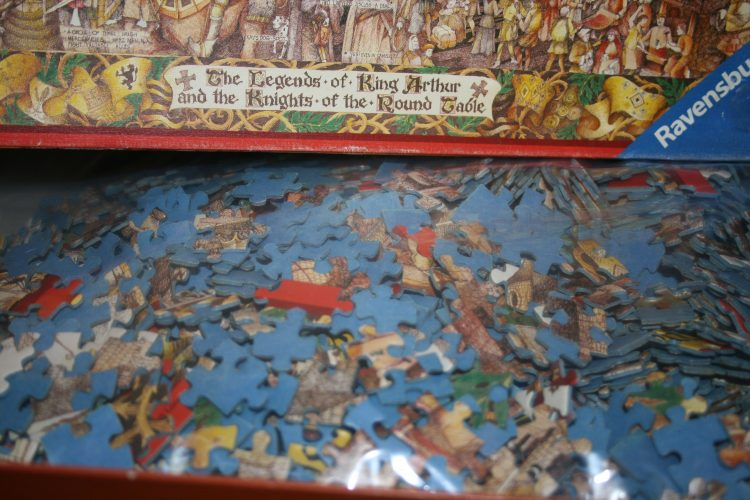 1000, Ravensburger, King Arthur and the Knights of the Round Table, by Albert Lorenz, Complete, Picture of the bag
