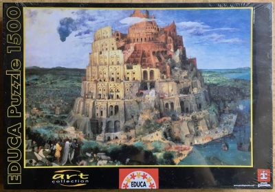Image of the puzzle 1500, Educa, The Tower of Babel, by Pieter Brueghel the Elder, Factory Sealed
