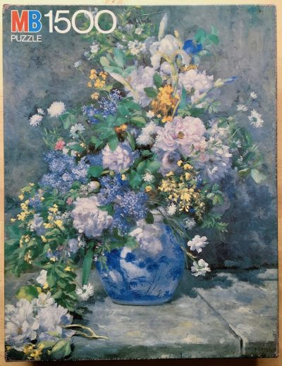 Image of the puzzle 1500, MB, A Large Vase of Flowers, by Pierre-Auguste Renoir, Complete, Picture of the box