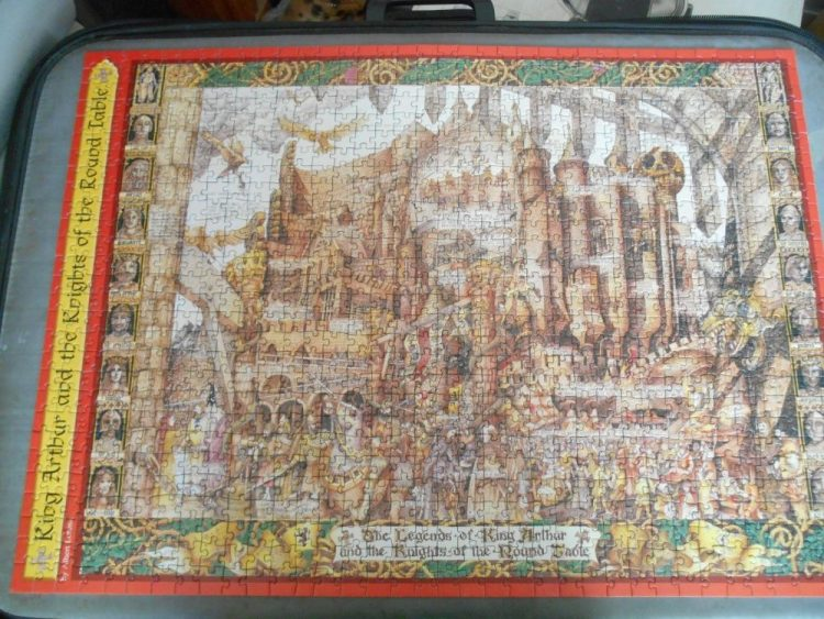 Image of the puzzle 1000, Ravensburger, King Arthur and the Knights of the Round Table, by Albert Lorenz, Complete, Picture of the puzzle assembled