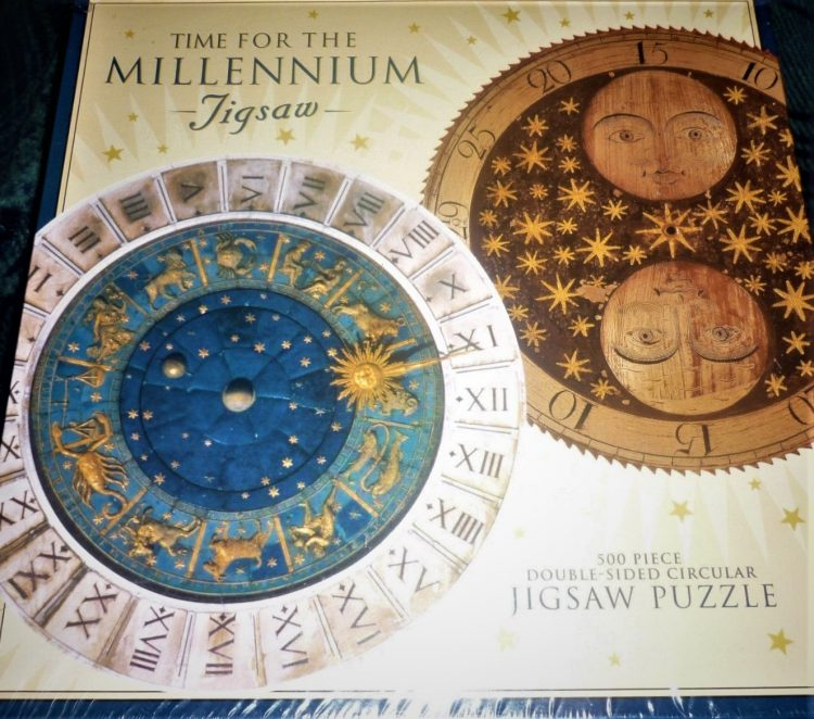 Image of the puzzle 500, Past Times, Time for the Millenium, by Mauro Codussi, Factory Sealed, Picture of the box