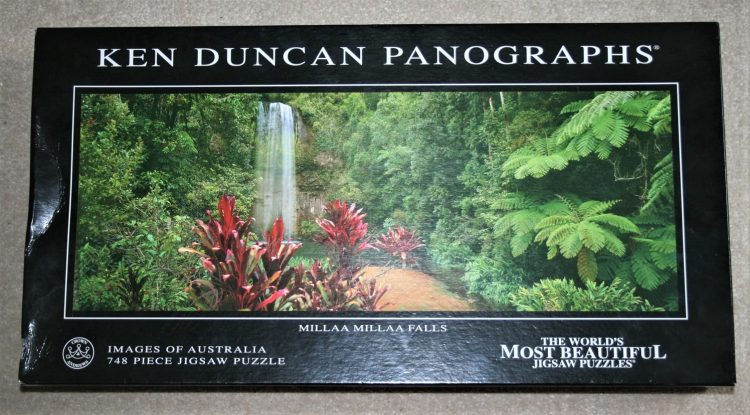 Image of the puzzle 750, Crown & Andrews, Millaa Millaa Falls, by Ken Duncan, Complete, Picture of the box