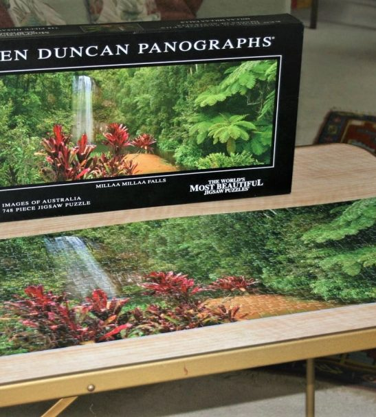 Image of the puzzle 750, Crown & Andrews, Millaa Millaa Falls, by Ken Duncan, Complete, Picture of the puzzle assembled