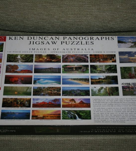 Image of the puzzle 750, Crown & Andrews, Millaa Millaa Falls, by Ken Duncan, Complete, Picture of the back