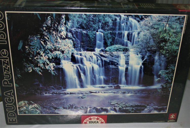 Image of the puzzle 1500, Educa Parakauni Falls, New Zealand, Factory Sealed