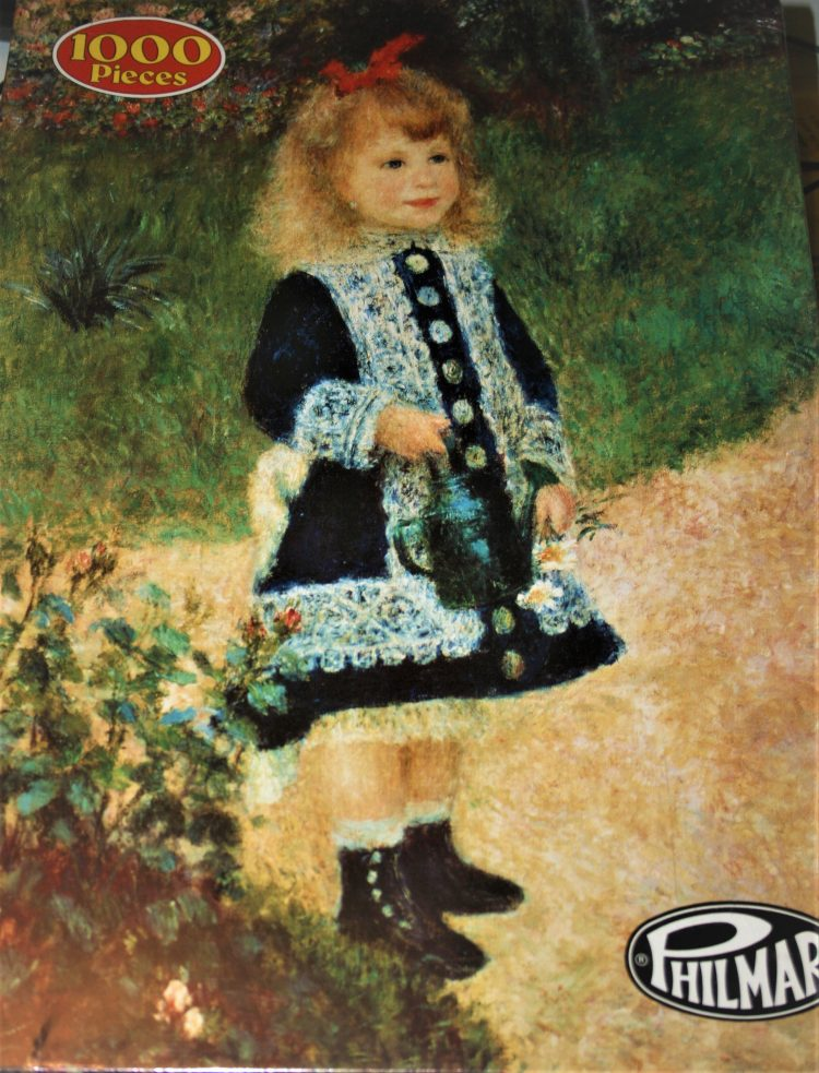 Image of the puzzle 1000, Philmar, A Girl with a Watering Can, by Auguste Renoir, Factory Sealed, Listed by Cathy