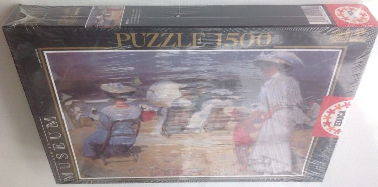 Image of the puzzle 1500, Educa, The Beach, Charles Hoffbauer, Factory Sealed, Picture of the box