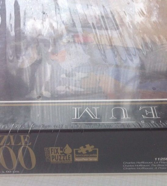 Image of the puzzle 1500, Educa, The Beach, Charles Hoffbauer, Factory Sealed, Detail of the box
