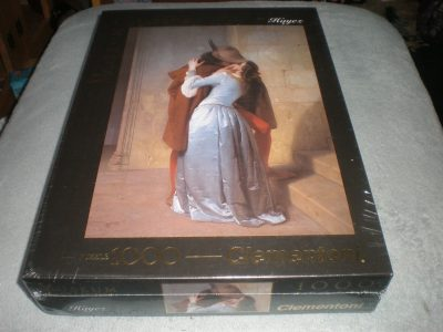 Image of the puzzle 1000, Clementoni, The Kiss, Francesco Hayez, Factory Sealed
