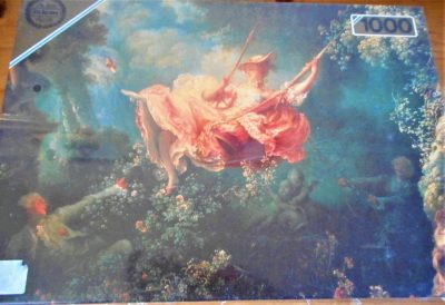 Image of the puzzle 1000, Falcon, The Swing, Jean-Honoré Fragonard, Factory Sealed, Picture of the box