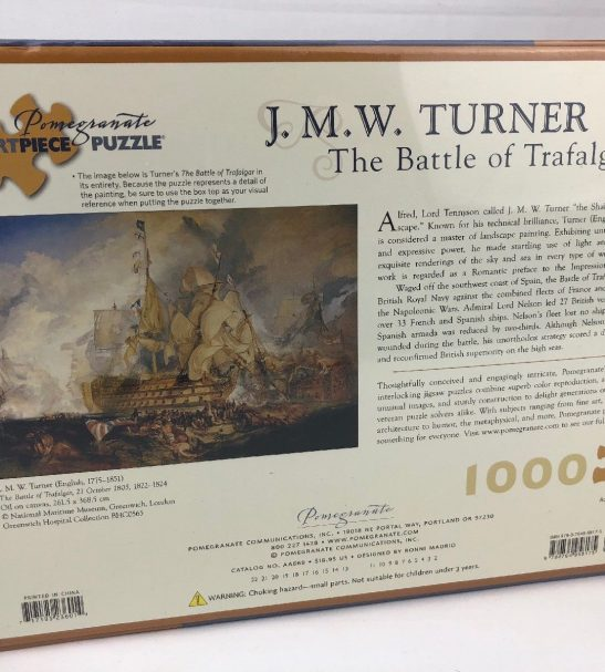 Image of the puzzle 1000 Pomegranate, The Battle of Trafalgar, by J. M. W. Turner, Picture of the back