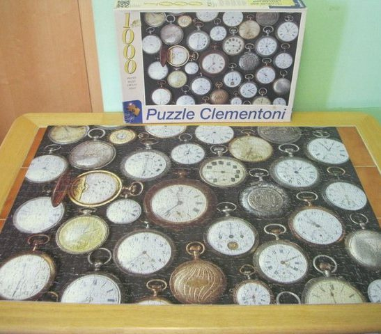 Image of the puzzle 1000, Clementoni, Watches, Complete, Picture of the puzzle assembled