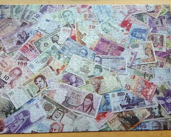 Image of the puzzle 1000, WHSmith, Notes of the World, Complete, Picture of the puzzle assembled