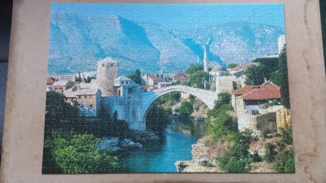 Image of the puzzle 1000, Waddingtons, Mostar, Yugoslavia, Complete, Picture of the puzzle assembled