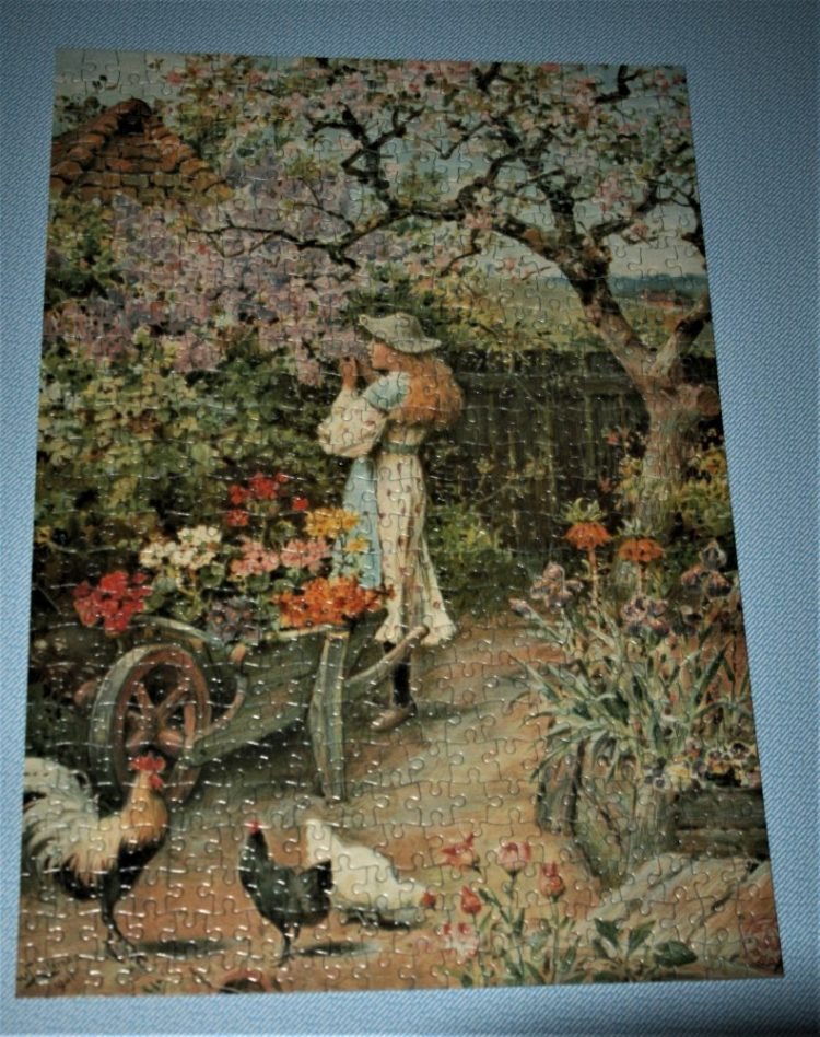 500, Waddingtons De Luxe, Spring Blossom, W. S. Coleman, Complete, Picture of the puzzle assembled