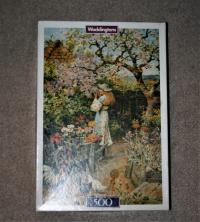 500, Waddingtons De Luxe, Spring Blossom, W. S. Coleman, Complete, Picture of the box