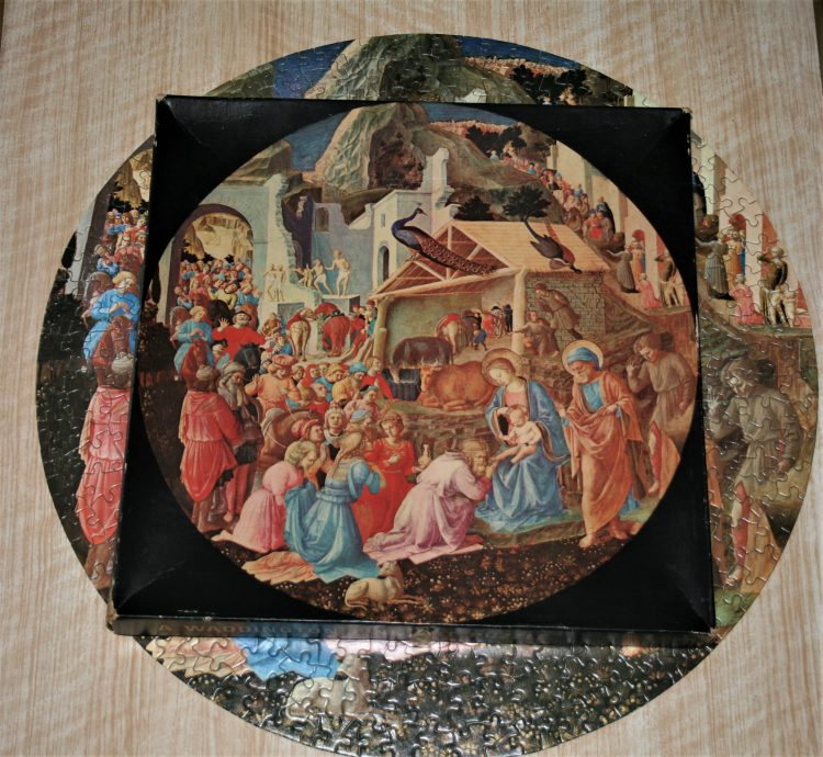 Image of the puzzle 500, Waddington, The Adoration of The Magi, by Fra Angelico & Filippo Lippi, Complete, Picture of the box