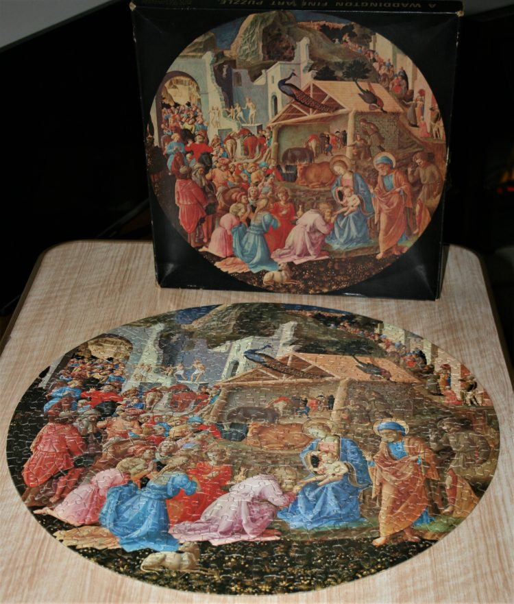 Image of the puzzle 500, Waddington, The Adoration of The Magi, by Fra Angelico & Filippo Lippi, Complete, Picture of the contents
