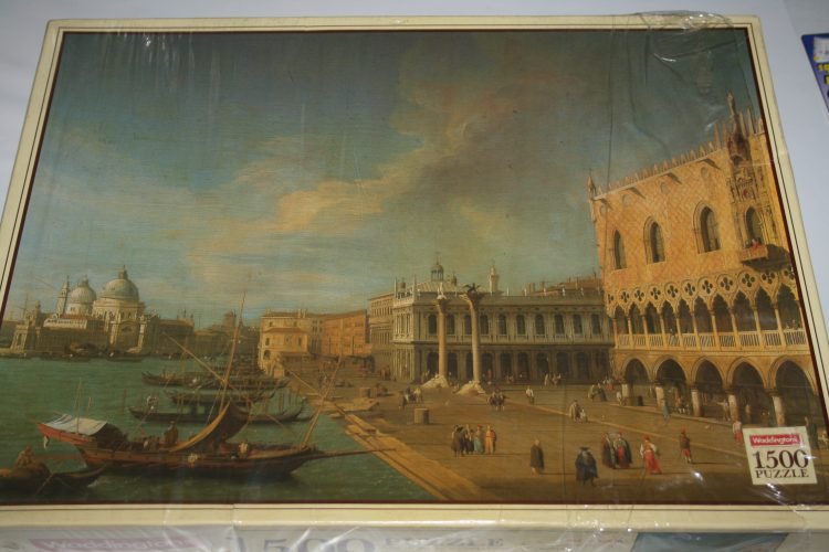 Image of the puzzle 1500, Waddingtons, Molo Entrance to Grand Canal, Canaletto, Factory Sealed, Picture of the box