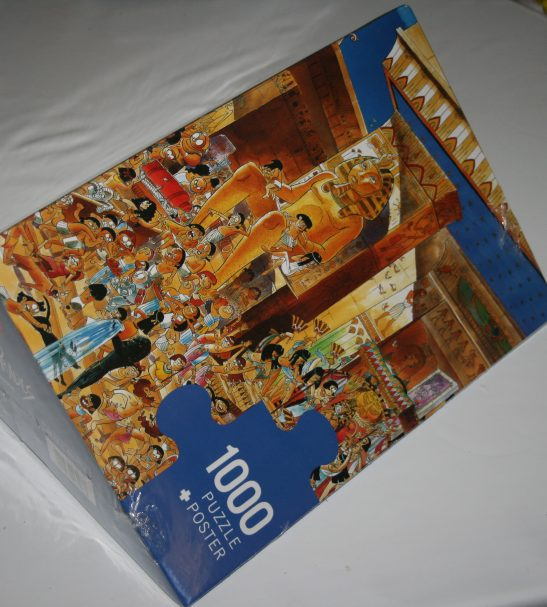 Image of the puzzle 1000, Heye, Egypt, by Hugo Prades, Factory Sealed, Listed by Cathy, Picture of the box