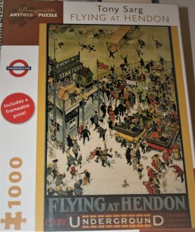 Image of the puzzle 1000, Pomegranate, Flying at Hendon, by Tony Sarg, Factory Sealed, Picture of the front