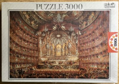 Imga of the puzzle 3000, Educa, Festa in Teatro a Roma, by Giovanni Paolo Panini, Factory Sealed