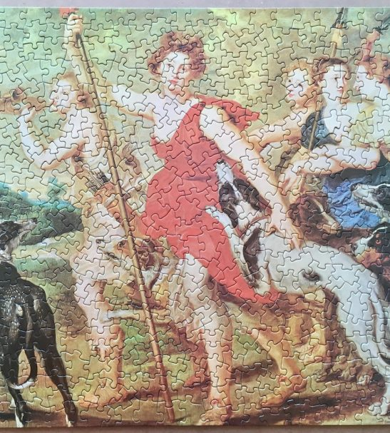Image of the puzzle 450, Waddington, Diana Hunting, by Peter Paul Rubens, Picture of the puzzle assembled