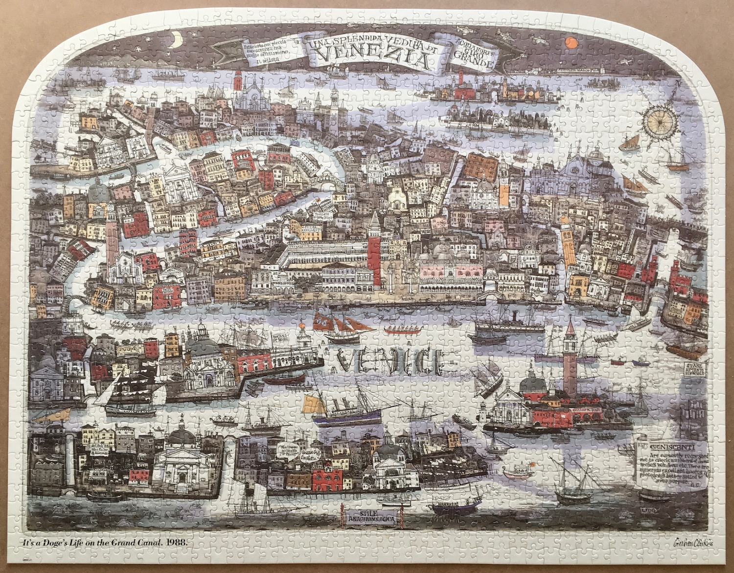 1500, MB, Its a Doges Life on the Grand Canal, Blog Post, Picture of the puzzle assembled