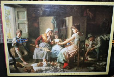 Image of the puzzle 2000, JR, A Happy Family, Factory Sealed, Listed by Cathy