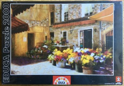 Image of the puzzle 2000, Educa, The Flower Shop, Jan McLaughlin, Factory Sealed