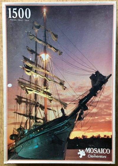 Image of the puzzle 1500, Clementoni, Sailing Ship, Sealed Bag, Picture of the box