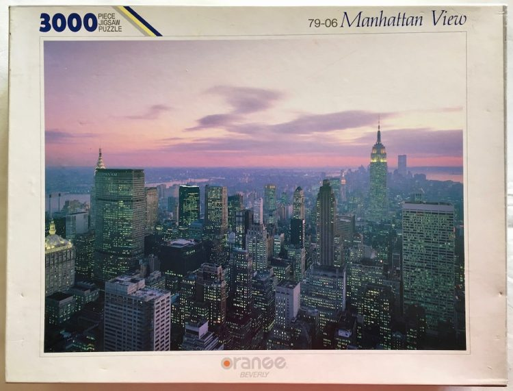 Image of the puzzle 3000, Beverly, Manhattan View, Sealed Bag, Picture of the box