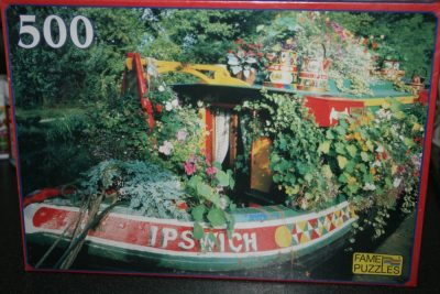 Image of the puzzle 500, Fame, Houseboat on River Thames, Factory Sealed, Picture of the box