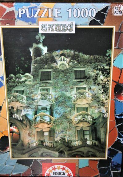 Image of the puzzle 1000, Educa, Casa Batlló, by Antoni Gaudi, Factory Sealed, Listed by Cathy