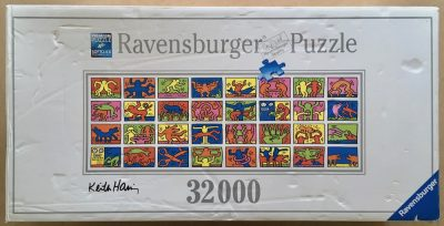 Image of the puzzle 32000, Ravensburger, Double Retrospect, by Keith Haring, Complete, Picture of the box