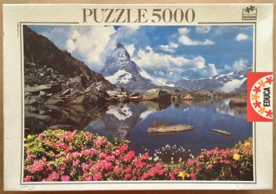 Image of the puzzle 5000, Educa, The Matterhorn, Switzerland, Sealed Bag, Picture of the box
