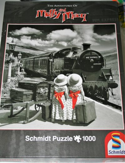 Image of the puzzle 1000, Schmidt, The Adventures of Molly and Mary, by David Ellis, Sealed Bag. Picture of the box