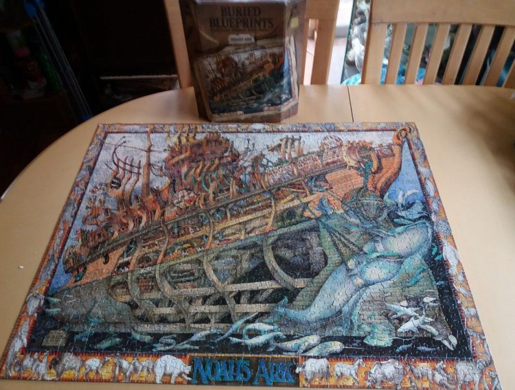 Image of the puzzle 1000, Master Pieces, Noahs Ark, by Albert Lorenz, Complete, Picture of the puzzle assembled