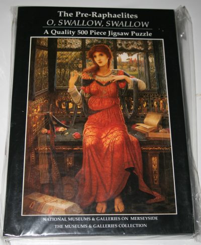 Image of the puzzle 500, Museums & Galleries, Oh, Swallow, Swallow, by John Melhuish Strudwick, Factory Sealed, Picture of the front
