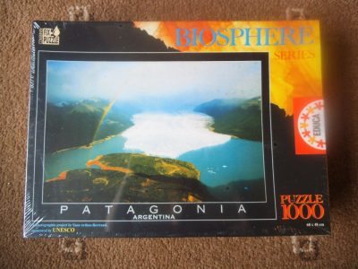 Image of the puzzle 1000, Educa, Patagonia, Argentina, by Yann Arthus-Bertrand, Factory Sealed, Picture of the box